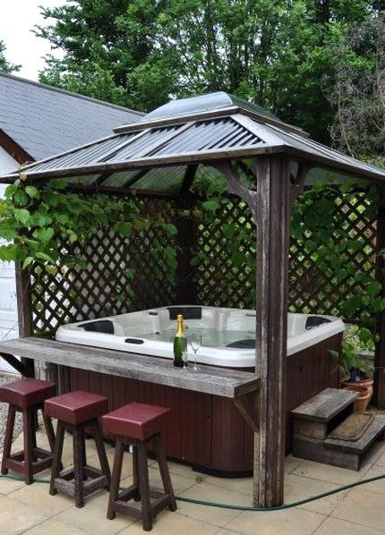 Backyard Hot Tub Ideas For Installation And Landscaping Zahradny
