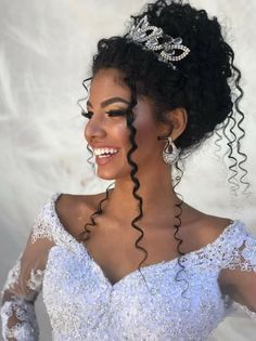 26 Beautiful Hairstyles For The African American Bride #curlyhaircut