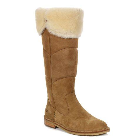 6d0c0bd0470bde UGG - Women s Samantha Suede Tall Boots - Chestnut