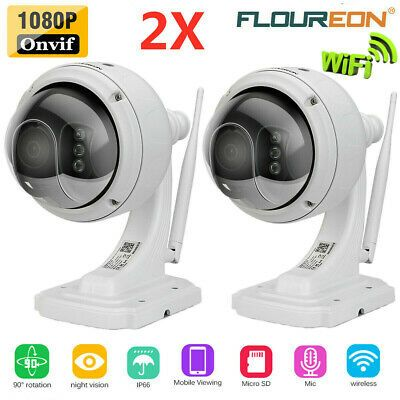 FLOUREON 1080P HD WIFI wireless Home Security Surveillance CCTV IP Camera w//Mic