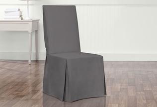 Matelasse Damask Arm Long Dining Chair Slipcover Slipcovers For