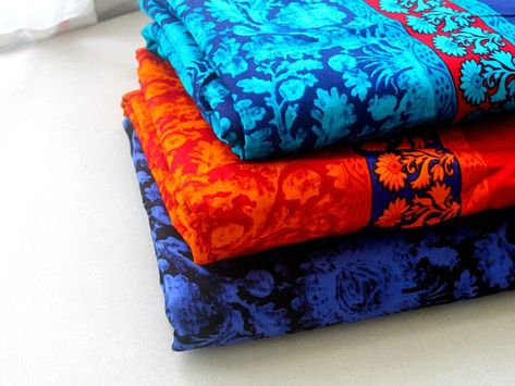 Floral Tone on Tone Indian fabric Glace cotton fabric fabric