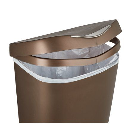 Umbra Brim 13 Gallon 50l Trash Can With Lid Walmart Com Trash Can Kitchen Trash Cans Bronze Kitchen
