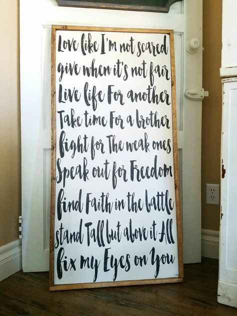 Fix my Eyes On You 2'x4' Wood Sign, Home Decor, Wall Decor, Handmade, Hand Painted, Wall Art, Rustic