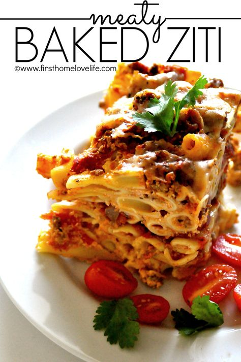 What happens when an extra cheesy lasagna lover marries a saucy baked ziti girl? They cross breed their favorites into an outstanding, and easy to make meal! This meaty baked ziti recipe is out of this world delicious, a great freezer/time saver meal, pretty easy on the budget, and could easily feed...