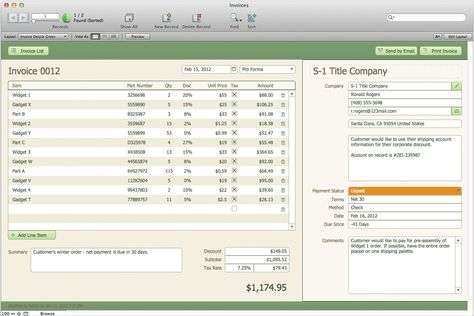 FileMaker Pro 12 u2014 I wanna have it and use it! Products I Love - invoice maker software