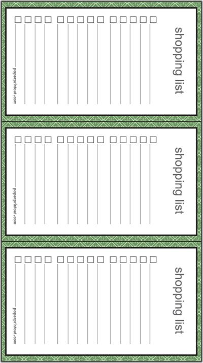 How to save time during the holiday season? Use this shopping list - printable grocery list template free