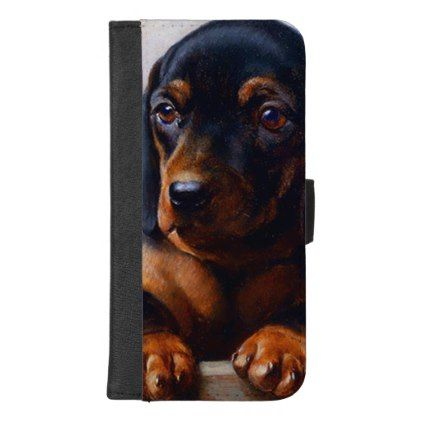 purchase cheap dd953 b95da Vintage Dachshund iPhone Wallet Case | Zazzle.com | animals ...