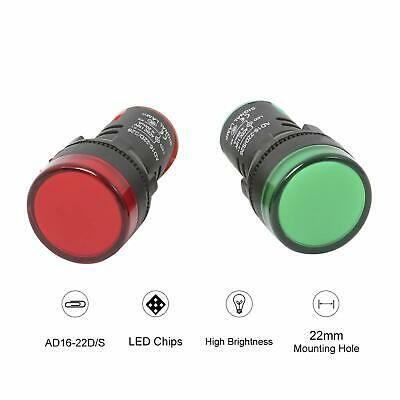 Details About 10pcs Ac Dc 110v Indicator Lights Red Green Led Flush Panel Mount 7 8 In New Green Led Indicator Lights Light Red