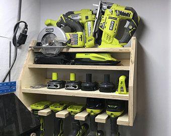 Cordless Drill Organizer Etsy In 2020 Power Tool Storage Tool Rack Tool Storage