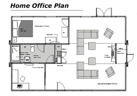 home office plan. home office floor plans dream pinterest plan and l