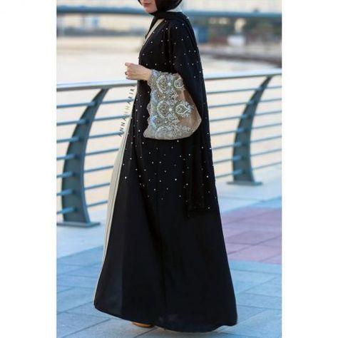 صور عبايات خليجية 2016 اجمل عبايات نسائية 2016 صور عبايات تصميم خليجي 2016 Abaya Fashion Hijabi Fashion Arab Fashion