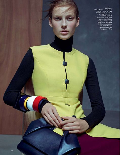 Julia Bergshoeff by Karim Sadli for Vogue UK January 2015 | The Fashionography