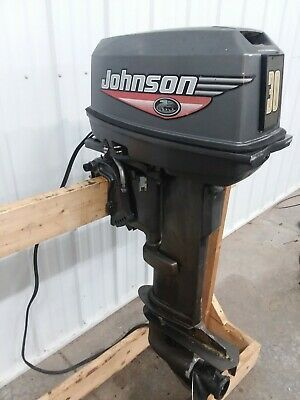 Johnson 30 HP LS Remote Electric Start Outboard Motor Boat Engine 25