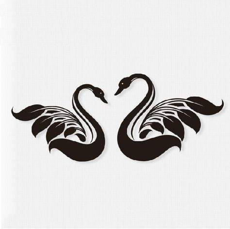 white tattoo swan - Google Search