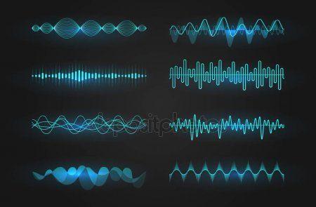 Sound Waves Icon Set Luminous Lines Depicting A Sound Or Radio Wave Music Equa Spon Set Luminous Lines Sound Ad Waves Icon Sound Waves Icon Set