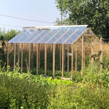 Serre De Jardin En Bois Cleophee 10m Par Helio Montage Inclus Jardins En Bois
