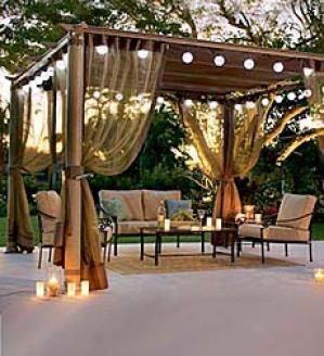 Pretty Curtains Outdoor Cover For Entertaining And Romance
