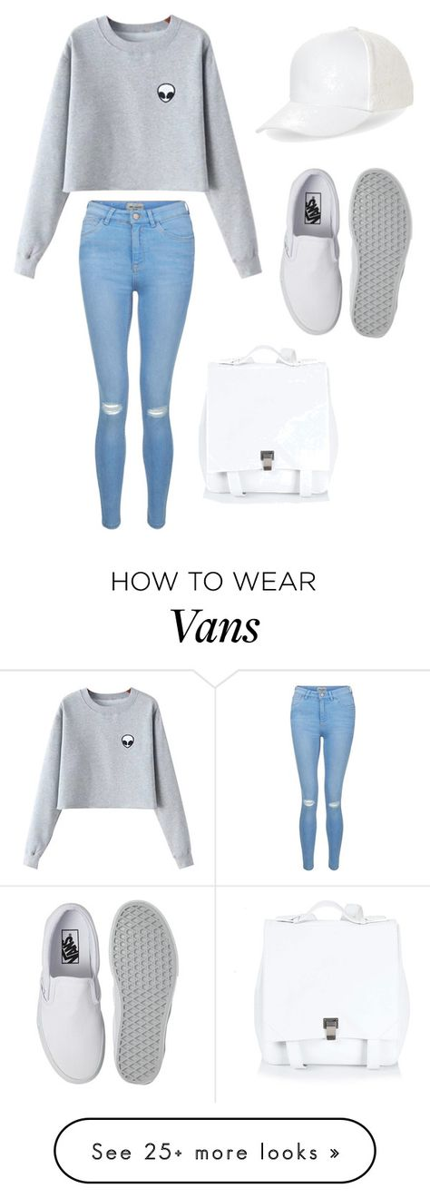 """""""white goes with everything"""" by sammillerlucas on Polyvore featuring Chicnova Fashion, New Look, Vans, BCBGeneration, Proenza Schouler and sammillerlucas"""