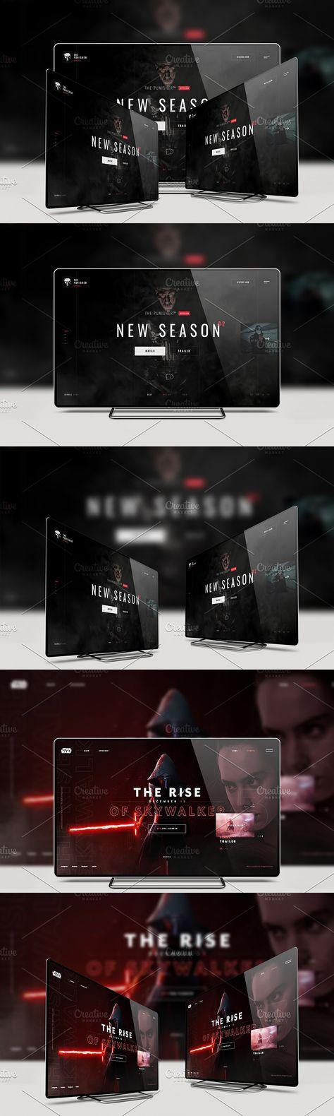 4k (Ultra HD) TV Mockup