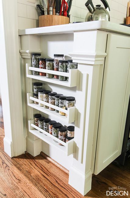 Easy Built In Spice Rack Bekvam Ikea Hack Deeply Southern Home Apartment Kitchen Storage Ideas Ikea Spice Rack Ikea Hack Kitchen