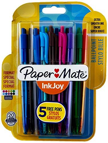 colori fun punta media rosa Paper Mate InkJoy Quatro penna a sfera