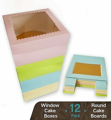 Ad Ebay Cookeezz Couture Colored Window Cake Box 10x10x5 Decorated Boxes Auto P New Box Cake Decorative Boxes Bakery Packaging