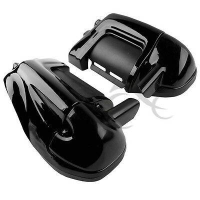 """Unpainted Black Lower Vented Fairing Kit w// 5.25/"""" Speaker Box For Harley Touring"""