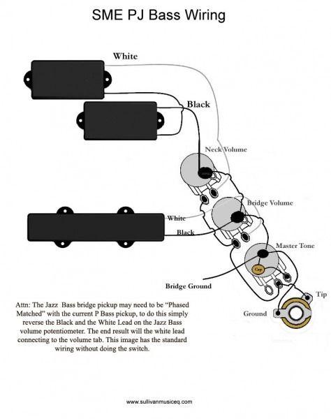 P B Pickup Wiring Diagram Fender Precision Bass Guitar Bass Guitar Chords