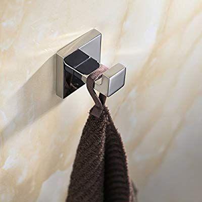 Homovater 304 Edelstahl Verchromt Handtuchhaken Modern Chrom Handtuch Robe Luxus Quadrat Badezimmer Zubehor Handtuchhaken Badezimmer Zubehor Haken
