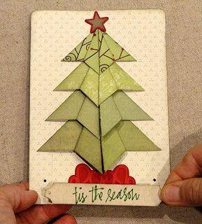 Needles N Knowledge Christmas Tree Folded Squares 5x7 Card Christmas Tree Cards Cards Classic Christmas Tree