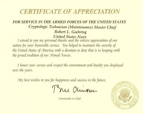 Pin by Christina Blevins on Navy Retirement Pinterest Retirement - army certificate of appreciation