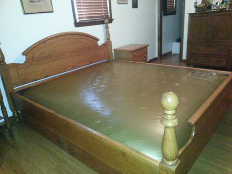 king size solid oak in sale in tahlequah ok for 450 solid oak waveless waterbed one owner no leaksdoes notu2026