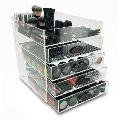 Plastic Makeup Organizer Makeup Organization Cosmetic Organizer Makeup Cosmetics