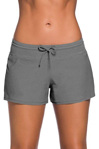 Damen Bade Hose Boardshorts Schwimmen Badeshorts Bikini Cover Up Hotpants Sommer