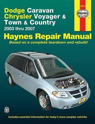 Dodge Caravan Chrysler Voyager And Town And Country 2003 Thru