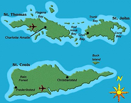Map Of The USVI My Heritage My Culture I LOVE Pinterest - Map of st croix us virgin islands