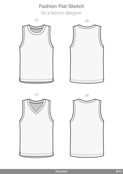 Vector Apparel Templates And Fashion Flat Sketches Tank Top Fashion Fashion Tank Tops