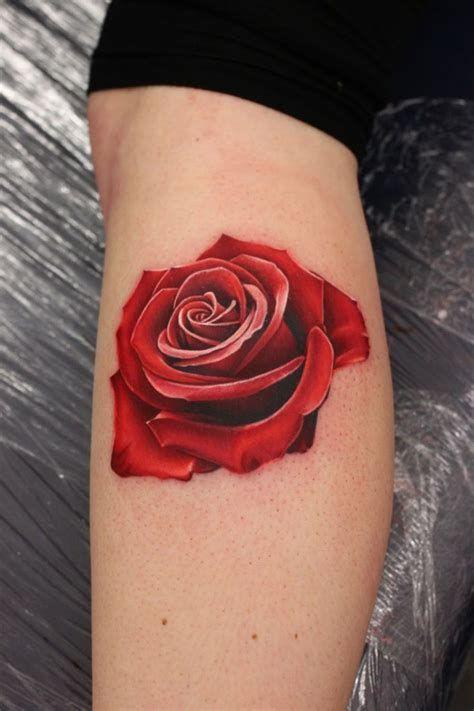 Realistic Red Rose Tattoo Best Tattoo Ideas Designs