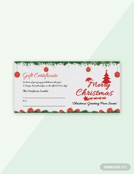 Free Snowflake Christmas Gift Certificate Template Word Doc Psd Apple Mac Pages Google Docs Publisher Gift Certificate Template Christmas Gift Certificate Template Christmas Gift Certificate
