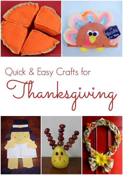 Thanksgiving Crafts for Kids.  Quick and Easy ways to celebrate Thanksgiving with kids. Includes decorations, recipes, writing, crafts and more!