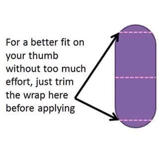 For many of us, the bottom of our thumb nail is square, not round. The wraps, however, are round. So what should you do? Simply trim the curved end of the nail wrap before you apply it to your nail, squaring it off. You will get a better fit and the growth in your nails over your two week manicure will not be as noticeable. shewantsthejams.jamberry.com