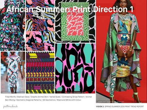 Vision 3: SS18 Print Trend Themes African Summer / Drawn Botanicals / Pale Garden