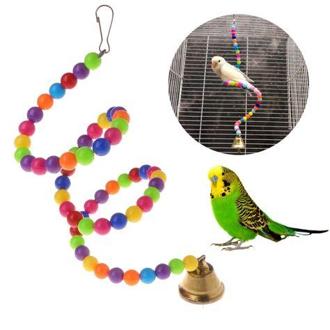 Papagei Spielzeug Spirale Schaukel Stehen Halter Vogel Kreative