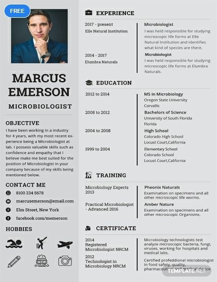 Microbiologist Resume Cv Template Word Psd Apple Pages Publisher Medical Technology Medical Laboratory Science Medical Resume Template