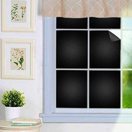 Antopm Fensterfolie Schwarz Matt Sichtschutzfolie Selbstklebend Verdunkelungsfolie Fenster Klebefolie Statisch Fensterfolie Sichtschutzfolie Fenster Klebefolie