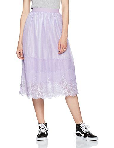 Femme New Trim 55 lilac Jupe Tulle 34 Jupes Look Lace Violet 66XACw