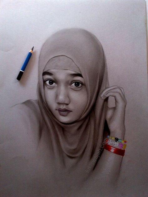 Jasa Lukis Wajah Pensil Pastelart150 Profile Pinterest
