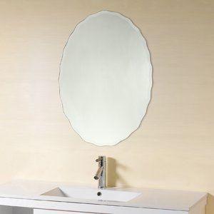 Denzer Frameless Wall Mirror Lovely Mirror Beveled Round Mirror Bathroom Bathroom Mirror Mirror