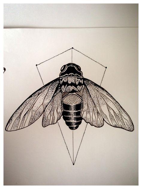 Dotwork Cicadas by Mathias Schmidt, via Behance